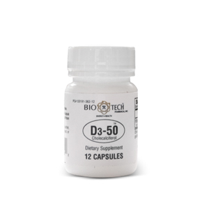 Vitamin D3-50 – Bio Tech (12 capsules)
