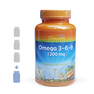 Thompson Omega 3-6-9 1200mg (60 softgels) 3 bottles + 1FREE