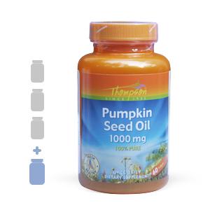 Thompson Pumpkin Seed Oil 1000 mg (60 softgels) (3 bottles + 1FREE)