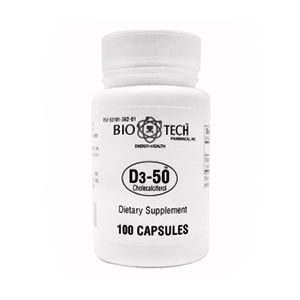 Vitamin D3-50 – Bio Tech (100 capsules)