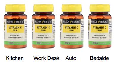 Vitamin C 4 bottles