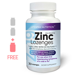 Z-19 Zinc lozenges bottle