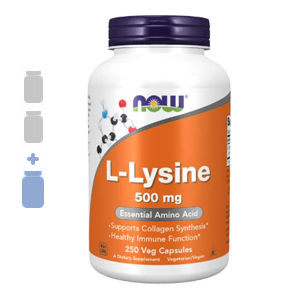 NOW Foods L-Lysine 500mg – 2 Bottles + 1FREE